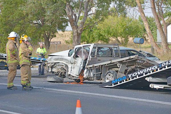 Three vehicle occupants hospitalised following high-speed