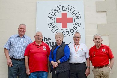 David, Roger, Realene, Gavin And Barry Red Cross  TBW Newsgroup