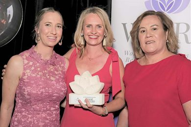 Koonara Wines Nicole Reschke (centre) Pictured With Award Partners Donna Edwards Of Degaris Lawyers And Harriet Keatley Of Landmark Keatley  TBW Newsgroup