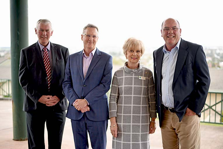 Des Knoll, Dr Geoffrey Shaw, Lynette Martin Peter Gandolfi  TBW Newsgroup