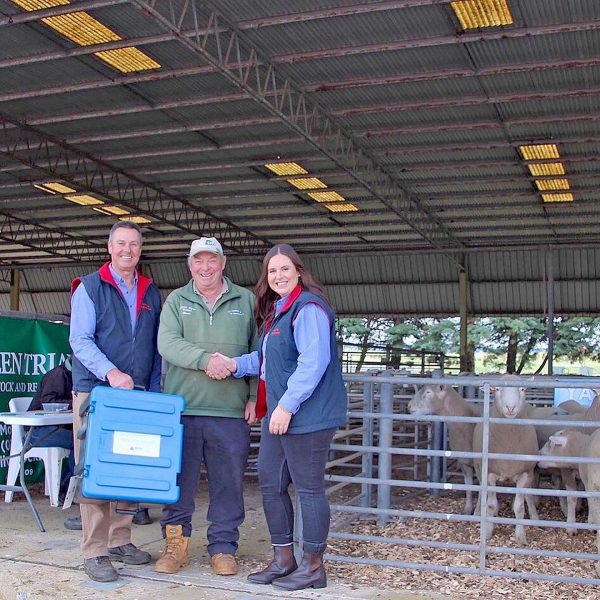 Graham And Tayla Wetgarth Presnting Bruce Gladigau With The Highest Volume Buyer Prize.  TBW Newsgroup