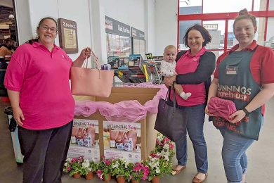 Erin Beggs And Danielle Leckie And Bunnings Team Member Grace Davi1web TBW Newsgroup