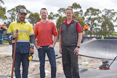 Jason Cousins, Ben Hood, Andrew Jones Pump Track  TBW Newsgroup