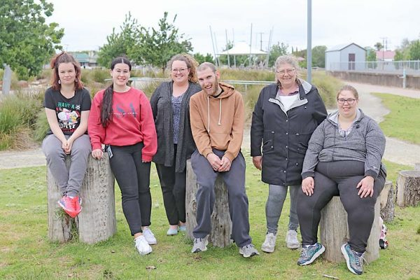 Disability Support Day Maddie Haarsma, Morgan Mansell, Hayley, Dawn Perry, Jasmine Edge Mackie And Aaron Atkinson  TBW Newsgroup