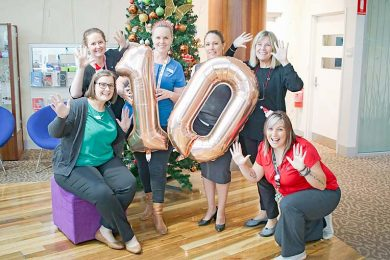 Library Staff 10th Birthday Celebrationsweb TBW Newsgroup