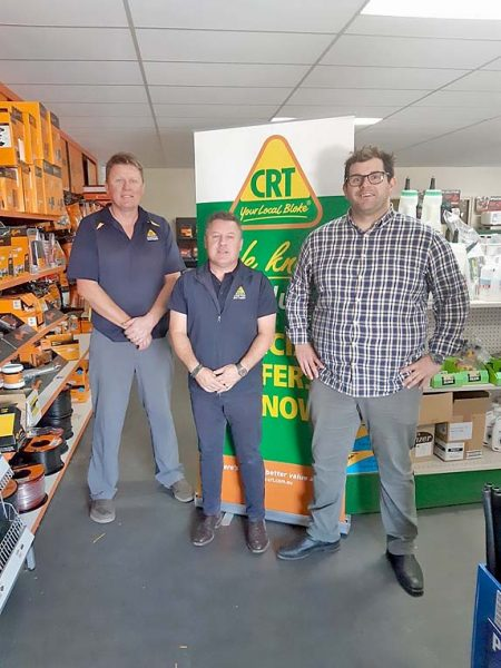Sponsors Craig Foster And Chris Castine With Pioneers President Tom Koschweb TBW Newsgroup