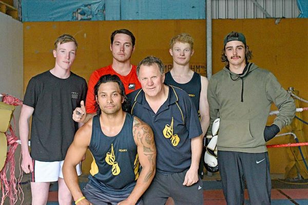 A Liam Whitty, Brenton Davies, Riley Wiese, Jake Brown, Front Jay Ropitini, Barry Nilsson, Absent Vahahn Schofield Crop Dsc 3252 TBW Newsgroup