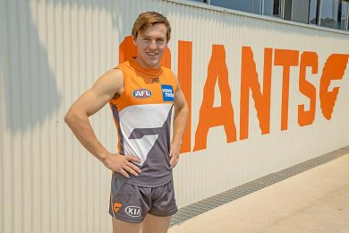 Tom Hutchesson At Giants Hq In Their First Week At The Club. TBW Newsgroup