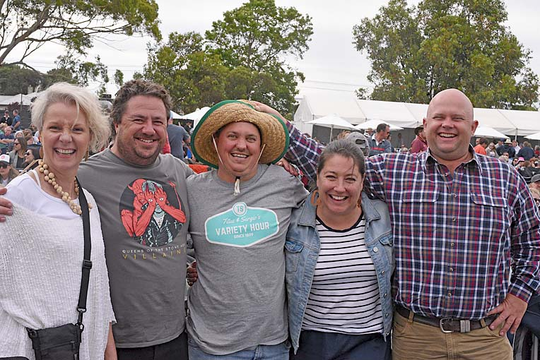 Cate Bell, Luke Trotter, Paul Harmer, Bec Trotter And John Rymill  TBW Newsgroup
