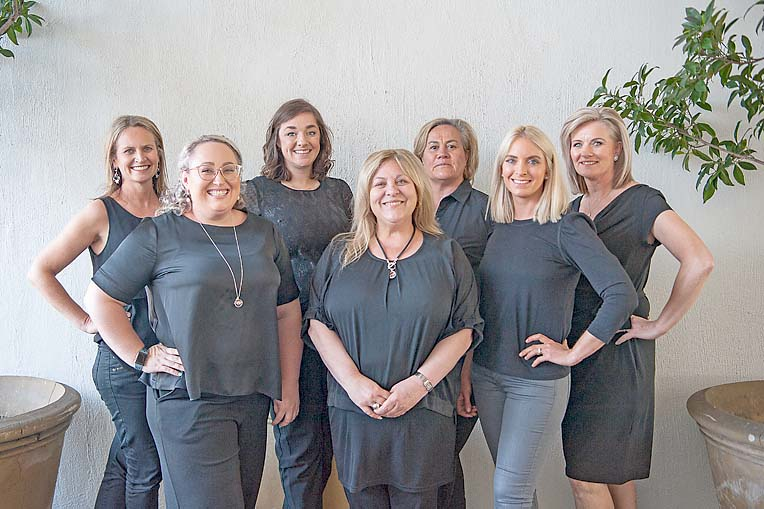 Nicole Reschke, Jacinta Jones, Ebony Moulden, Toni Vorenas, Harriet Keatley, Liz Rymill, Cathy Beckman  TBW Newsgroup