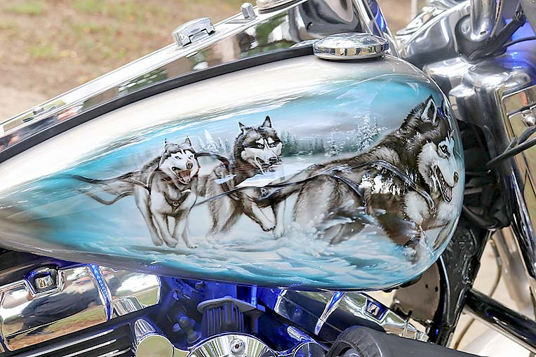 P3 Airbrushed Harley Davidson (16)  TBW Newsgroup
