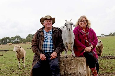 Bruce And Linda Hay With Gertie The Goat  TBW Newsgroup