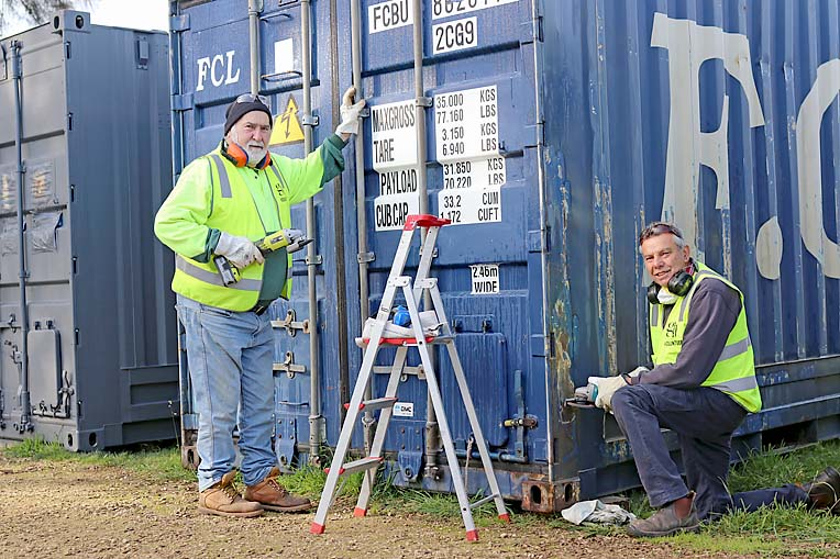 Tom And Frank Gij Prep Shipping Containers  TBW Newsgroup