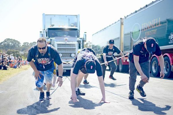 Teams In Action During The 2019 Truck Pull Challenge At The Mount Gambier Showground. Photograph Courtesy Of Laura Thomas  TBW Newsgroup