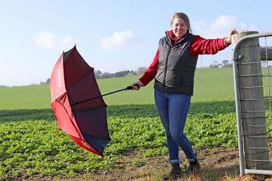 Sophie Schulz With Umbrella Down  TBW Newsgroup